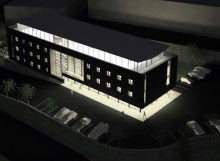 3D hotel de noche