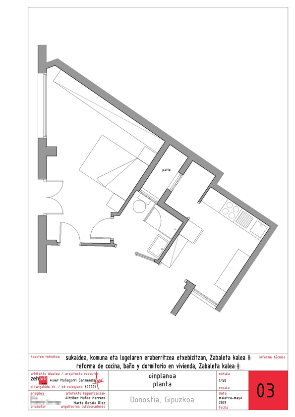 Reforma vivienda Zabaleta Donostia